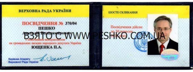 Помощник-консультант Ющенко П.А.