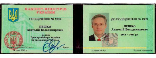 Советник премьер-министра Украины Азарова Н.Я.